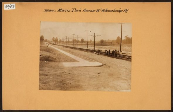 """Irma and Paul Milstein Division of United States History, Local History and Genealogy, The New York Public Library. """"Bronx: Morris Park Avenue - Williamsbridge Road"""" The New York Public Library Digital Collections. Spring 1913"""