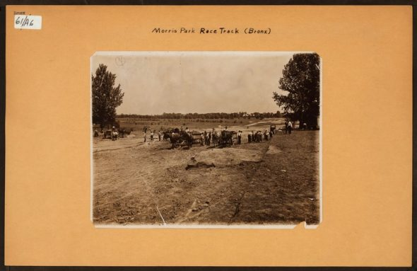 """Irma and Paul Milstein Division of United States History, Local History and Genealogy, The New York Public Library. """"Bronx: Morris Park Race Track."""" The New York Public Library Digital Collections. 1913."""