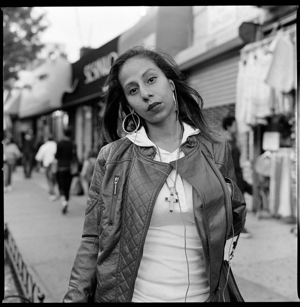 Ground Truth Project: Bronx Millennials October 2015 Zuly Molina, 28, on Southern Boulevard neat Hunts Point in the Bronx. After years surviving domestic violence Zuly decided to work as a resident assistant at a Woman's domestic violence shelter.