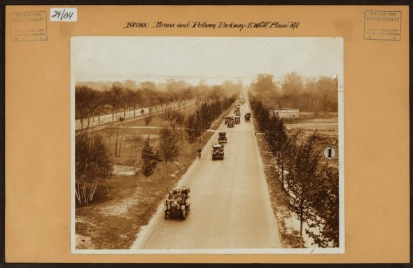 "Pelham Parkway at White Plains Road facing east from the 2 Subway line which had just opened. Notice not a building in sight/Irma and Paul Milstein Division of United States History, Local History and Genealogy, The New York Public Library. ""Bronx: Bronx and Pelham Par - White Plains Road"" The New York Public Library Digital Collections. 1914."
