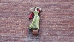 One of several statues at the rear of the old theater.