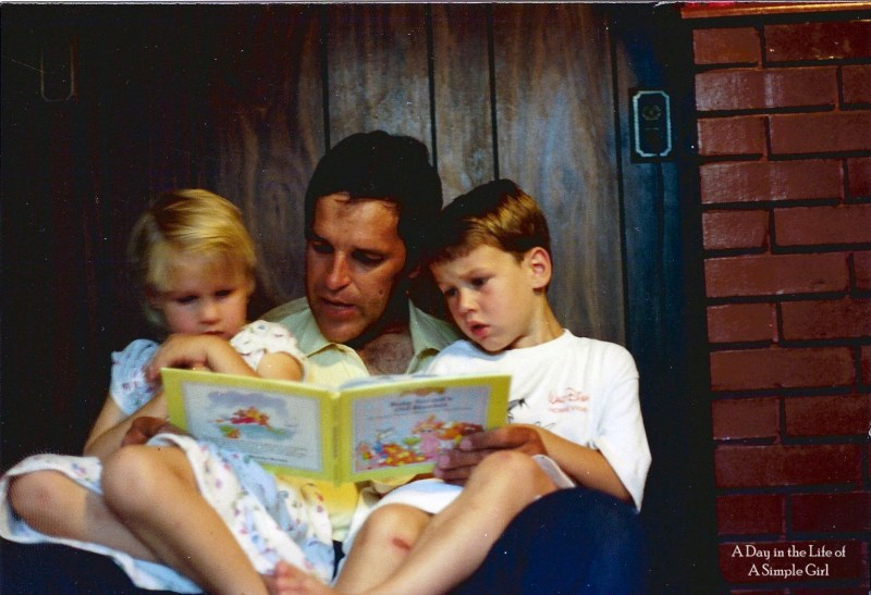Dad Reading to Me and Chris 1988a