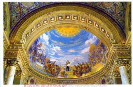 Southern dome fresco of King Chulalongkorn (Rama V) abolishing slavery as a prelud to modernizing the Kingdom