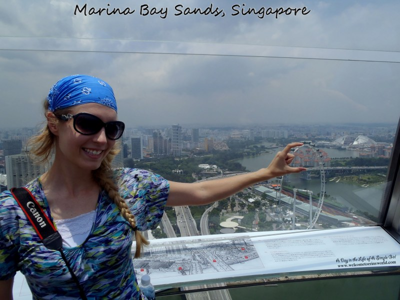 Selfies Through Asia | View from Marina Bay Sands over Singapore | www.welcometoerinsworld.com
