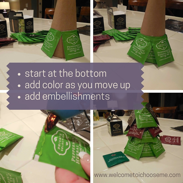 Tea Bag Christmas Tree Directions - I Choose Me