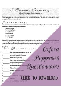 Oxford Happiness Questionnaire Preview - I Choose Me
