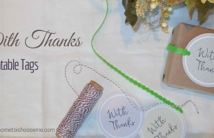 With Thanks – Printable Tags