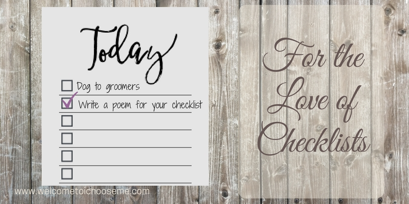 For the Love of Checklists