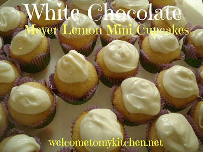Dove Chocolate Discoveries ~White Chocolate Meyer Lemon Mini Cupcakes