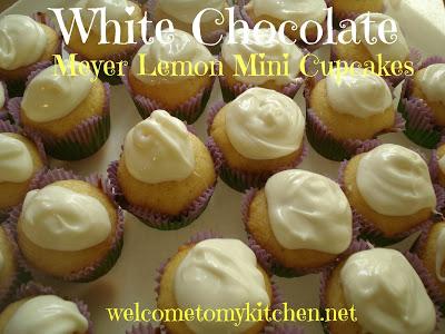 Dove Chocolate Discoveries ~White Chocolate Meyer Lemon Mini Cupcakes