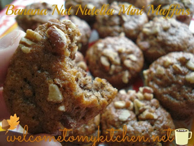 Banana Nut Nutella Mini Muffins