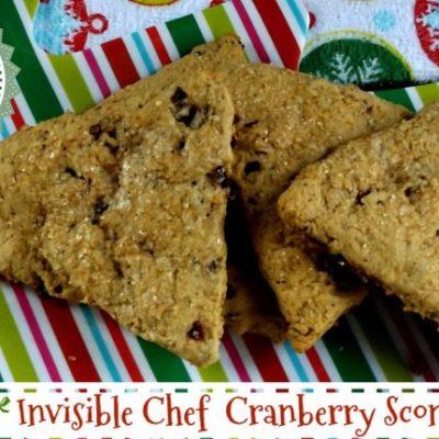 Invisible Chef Cranberry  Spice Scones