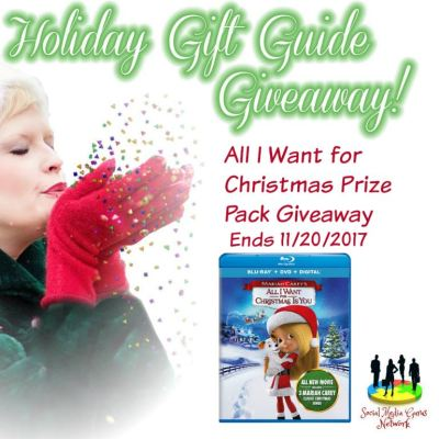 MARIAH CAREY'S ALL I WANT FOR CHRISTMAS IS YOU Prize Pack Giveaway @SMGurusNetwork