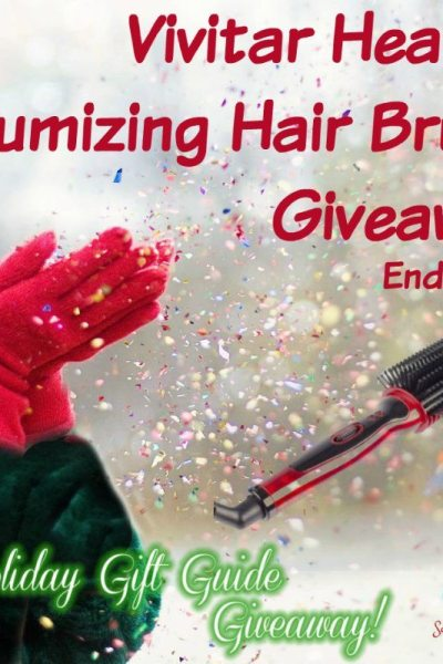 Vivitar Heated Volumizing Hair Brush Giveaway