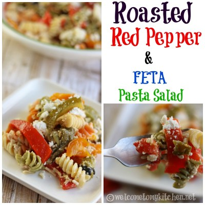 Roasted Red Pepper & Feta Pasta Salad