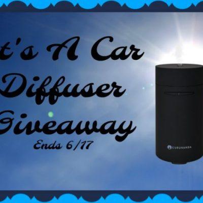 It's A Car Diffuser Giveaway @SMGurusNetwork