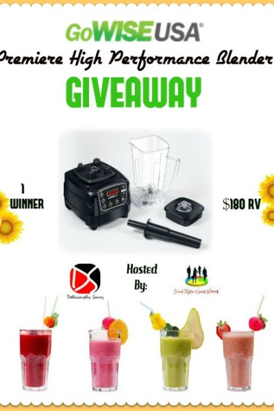 GoWISE USA Premiere High Performance Blender Giveaway @SMGurusNetwork