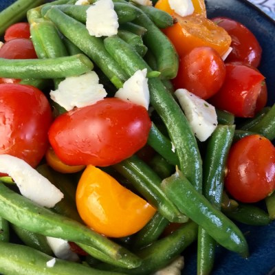 Green Bean Salad with Tomatoes & Feta