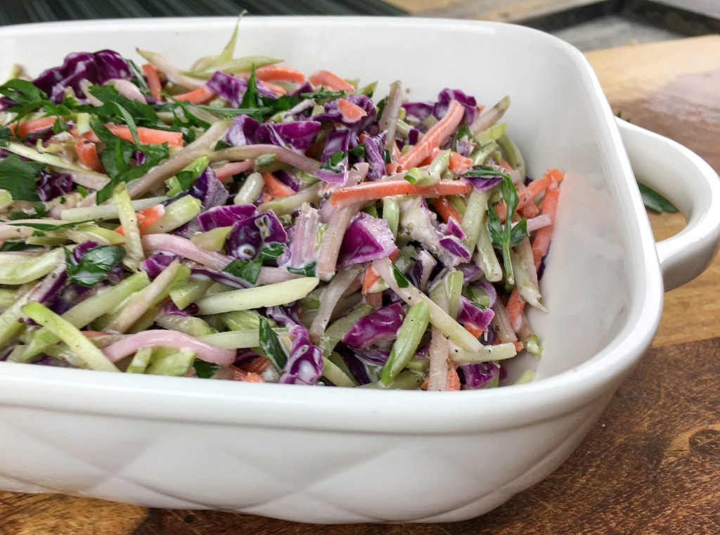 Broccoli Slaw In a baking dish