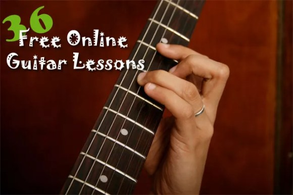 36 Free Guitar Lessons - Perfect For Beginners