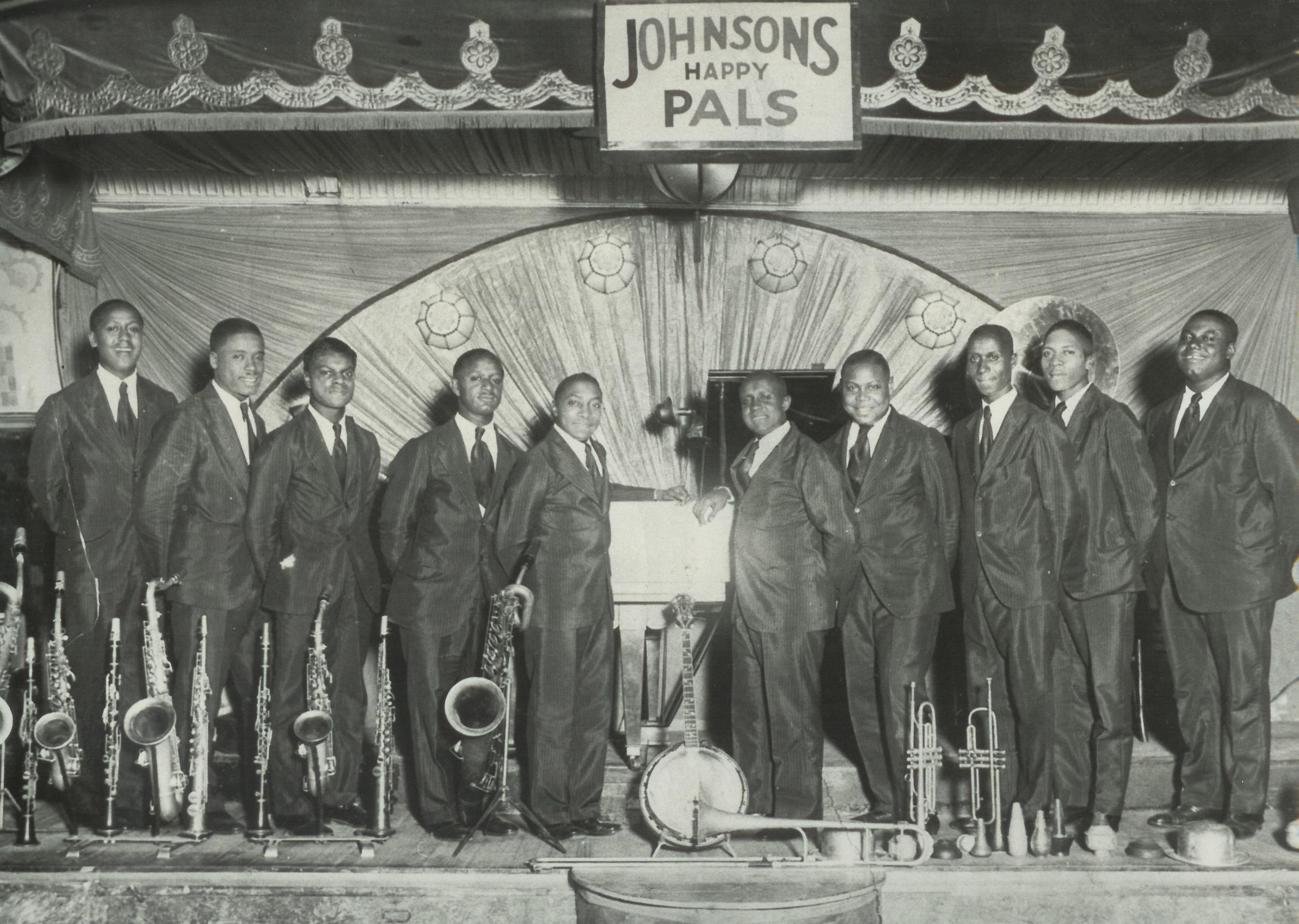 1929 – Johnsons Happy Pals. Source: Richmond Jazz Society