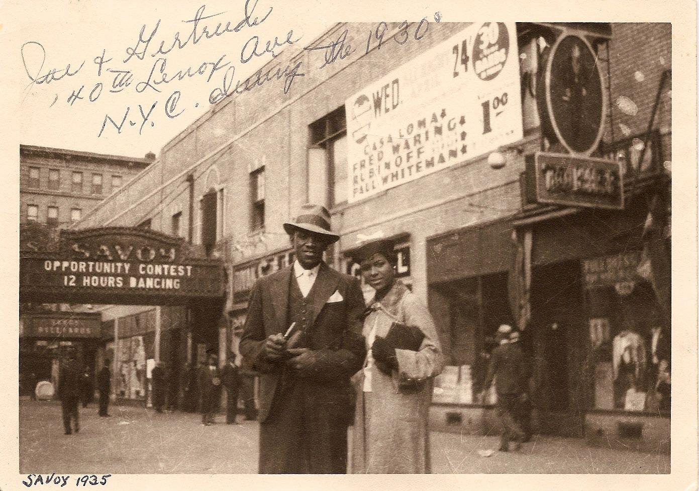 c.1930s – Gertrude Hadley Jeannette & Joe Jeannette II sometime in the early to mid 1930s. Source: unknown.