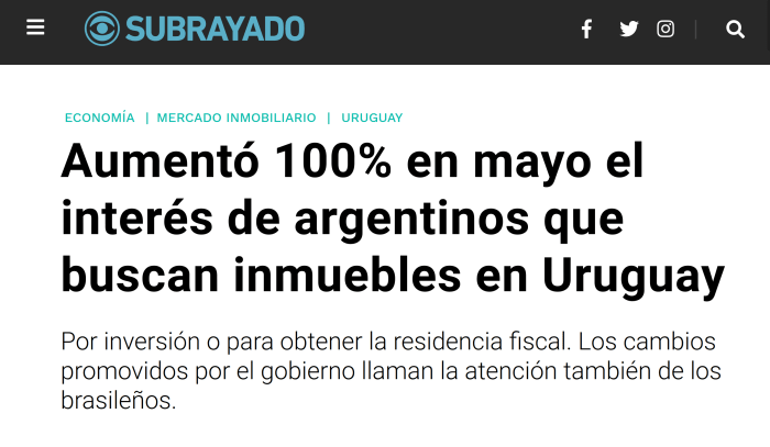 nota Subrayado Uruguay