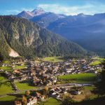 Mayrhofen Aereal panoramic zillertal