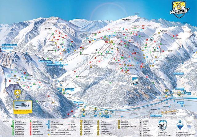 Mayrhofen ski maps