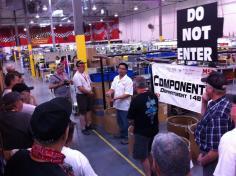 Impressive facilities. Paul & Dorothy enjoy manufacturing tours.