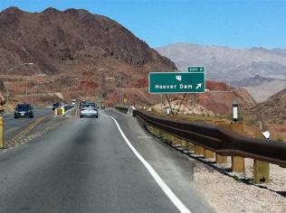 Approaching Hoover Dam
