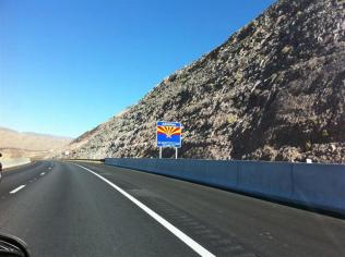 Welcome to Arizona - at the other end of the new bridge.