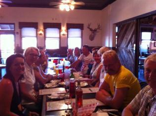 Norwegian Vette Club members at the Dambar.