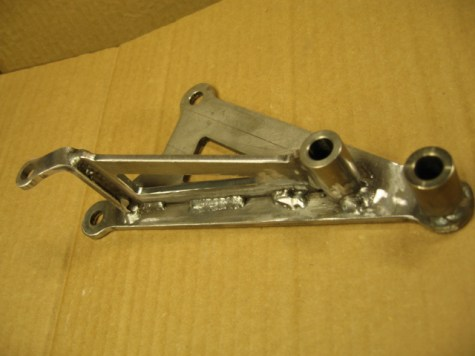 This bracket was MIG welded- use whatever you're comfortable with.