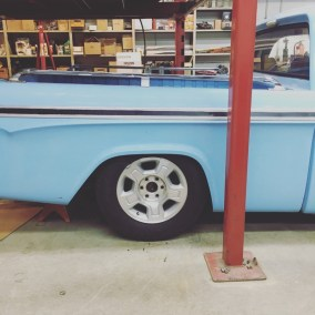 "Paul's 17"" winter wheels were used as mock ups. They have an OD of 29""."