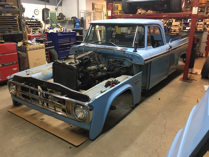 I wasn't sure where I would put a truck in the shop... now I'm still not sure where I'm going to put all the parts that are coming off!
