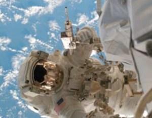 Astronaut Welding in Space