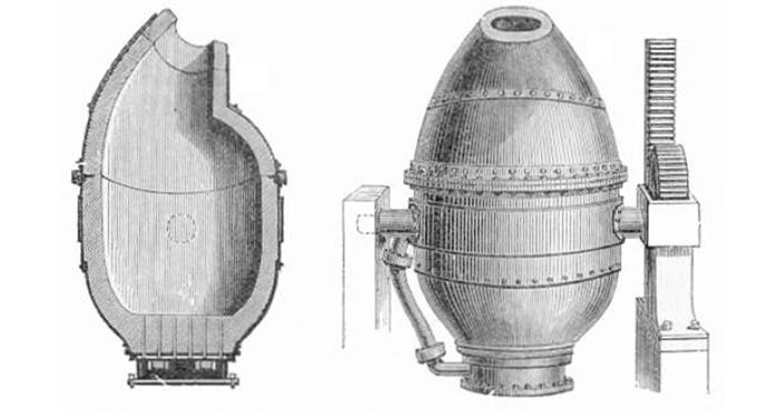 Illustration of a bessemer converter