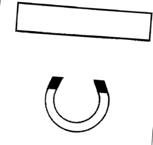 illustration of magnet not clinging to metal