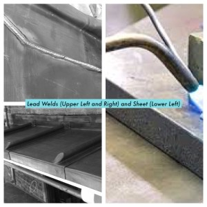 2 lead welding examples and lead roof sheeting