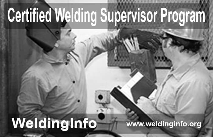 certified welding supervisor