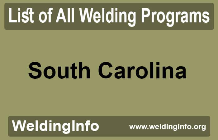 welding programs in south carolina