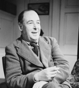 Writer, and Christian apologist C.S. Lewis (1898 - 1963).