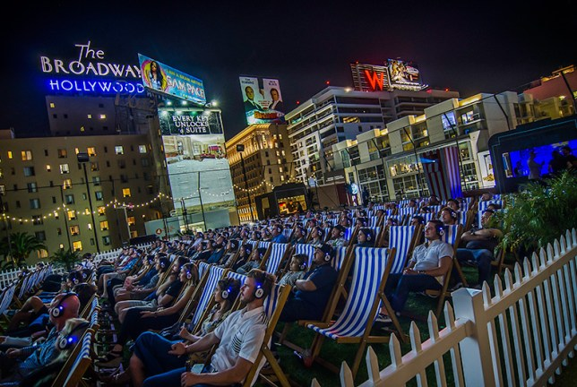 Image result for rooftop cinema club los angeles