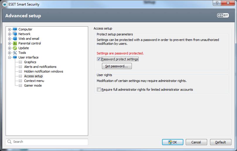 5 ESS settings psw