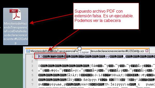 Supuesto PDF es un ejecutable
