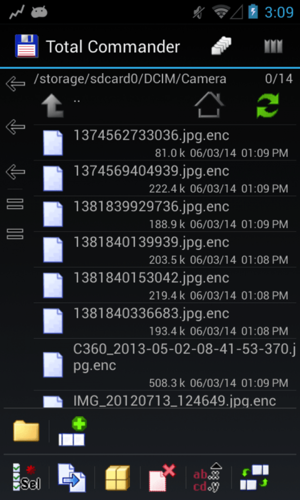 Files encrypted by Android/Simplock.A