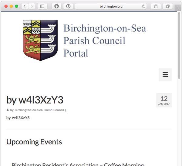 Defaced website