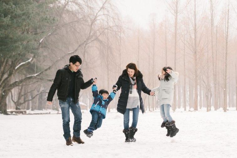 Nami Island Family Snow